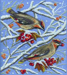 Borduurpakket Winter Birds - PANNA
