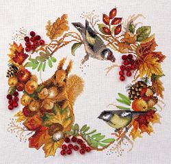 Borduurpakket Autumn Wreath - PANNA