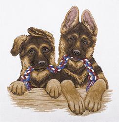 Cross Stitch Kit Pair of Twins - PANNA