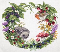 Cross Stitch Kit Summer Wreath - PANNA