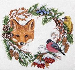 Cross stitch kit Winter Wreath - PANNA