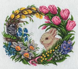 Borduurpakket Spring Wreath - PANNA