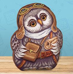 Borduurpakket Owl Cushion - PANNA