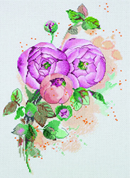 Cross Stitch Kit Ranunculus - PANNA