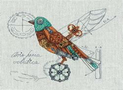Cross stitch kit Clockwork Bird - PANNA