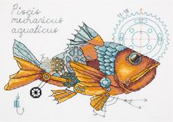 Borduurpakket Clockwork Fish - PANNA