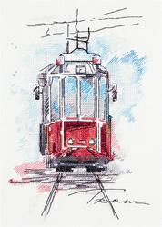 Borduurpakket City Tram - PANNA