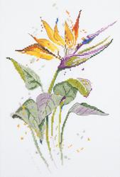 Cross stitch kit Bird of Paradise Flower - PANNA