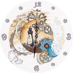 Borduurpakket Clockwork Time - PANNA