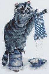 Borduurpakket Laundress Raccoon - PANNA