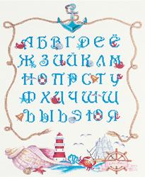 Borduurpakket Marine Alphabet  - PANNA