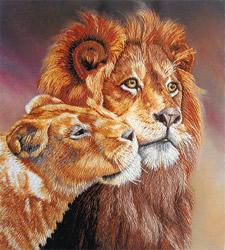 Borduurpakket Lions - PANNA
