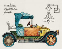 Cross stitch kit Clockwork vehicle - PANNA