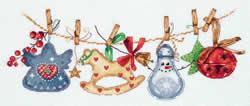 Cross stitch kit Christmas Garland - PANNA