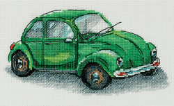 Cross stitch kit Green Car - PANNA