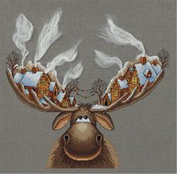 Borduurpakket Christmas Moose - PANNA