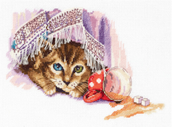 Cross stitch kit Naughty Cat - PANNA