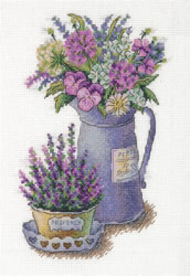 Cross stitch kit Flowers of Provence - PANNA
