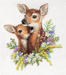 Cross stitch kit Fawns - PANNA