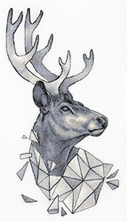 Cross stitch kit Geometry - Deer - PANNA