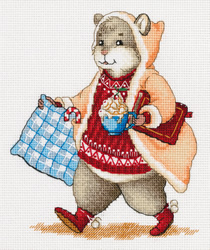 Cross stitch kit Hamster and Cocoa - PANNA