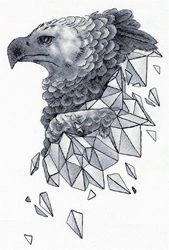 Cross stitch kit Geometry - Eagle - PANNA