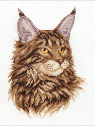 Cross stitch kit Maine Coon - PANNA