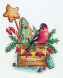 Cross stitch kit Bullfinch with Sweets - PANNA