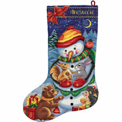 Cross stitch kit Snowman Stocking - PANNA