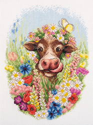 Cross stitch kit Sunny the Cow - PANNA