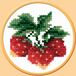 Voorbedrukt borduurpakket Wild Strawberry - PC-Studia