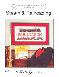 Cross Stitch Chart Steam & Railroading - Patricia Gaskin