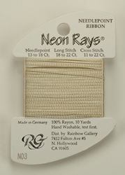 Neon Rays Pale Beige - Rainbow Gallery
