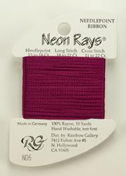 Neon Rays Dark Mauve - Rainbow Gallery