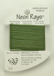 Neon Rays Loden Green - Rainbow Gallery