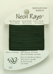 Neon Rays Dark Green - Rainbow Gallery