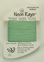 Neon Rays Pale Green - Rainbow Gallery