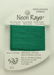 Neon Rays Jade Green - Rainbow Gallery