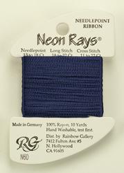 Neon Rays Navy Blue - Rainbow Gallery