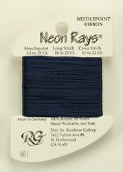 Neon Rays Midnight Blue - Rainbow Gallery