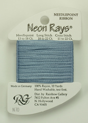 Neon Rays Pale Denim - Rainbow Gallery