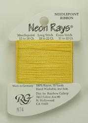 Neon Rays Golden Yellow - Rainbow Gallery