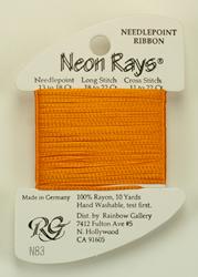 Neon Rays Tangerine - Rainbow Gallery
