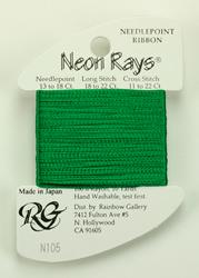 Neon Rays Christmas Green - Rainbow Gallery