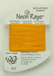 Neon Rays Yellow Orange - Rainbow Gallery