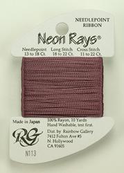 Neon Rays Dark Antique Rose - Rainbow Gallery