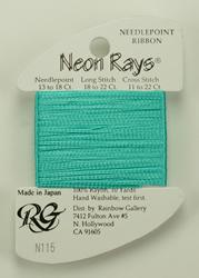 Neon Rays Sea Foam - Rainbow Gallery