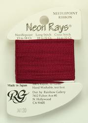 Neon Rays Merlot - Rainbow Gallery