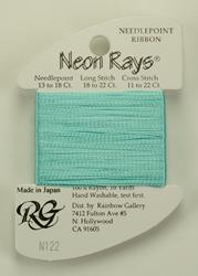 Neon Rays Aquamarine - Rainbow Gallery