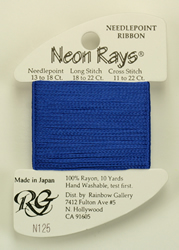 Neon Rays Dark Delft Blue - Rainbow Gallery